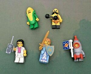 5 x LEGO Minifigure Series 17 Bundle - Corn/Elf Girl/Rocket Boy/Yuppie/Circus