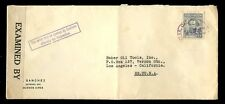 ARGENTINA 1942 USA CENSOR + BOXED MAY BE OPENED BY CUSTOMS