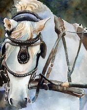 Giclee Print Percheron Charleston Draft Horse Painting Art SC South Carolina