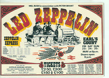 ENTERTAINER-ZEPPLIN EVENT POSTER ON CARD-(ET-70)*