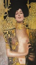 Gustav Klimt Judith Oil Painting 30x16 NOT a print or poster Box framing Avail.