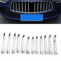 Silver Insert Front Grille Decals Grill Cover Trim Fit For Maserati Ghibli 13-17