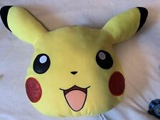 Pokemon Pikachu Face Pillow 14� New