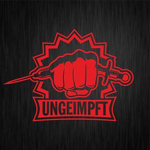UNGEIMPFT Corona Impfung Statement Demo Rot Fun PKW Auto Vinyl Sticker Aufkleber