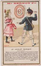 CHROMO ANCIEN PUBLICITAIRE M.on BERNOT FRERES/JAVELOT MAGIQUE/SCIENCE/TOM TIT