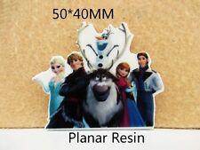 5 X 50MM Anna Olaf Elsa + amigos Frozen Corte Láser Resina Reverso Plano Arco Diademas