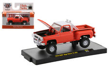 M2 MACHINES AUTO-TRUCKS ORANGE 1976 GMC HIGH SIERRA 15 4x4 SQUAREBODY *PRESALE*