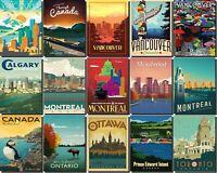 Canada Fridge Magnet Poster Vintage Retro Art  All State Photo gift souvenir