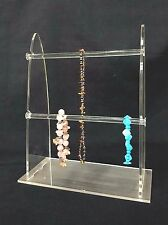 2 Tier Sunglass Jewelry Displays Stand Acrylic Clear T-Bar Bracelet Necklace