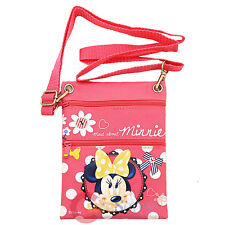 Disney Minnie Mouse Passport Bag Body Shoulder Cross Bag Ticket ID Holder Case