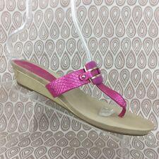 Anne Klein iFlex Women's Pink Faux Skin Flip Flop Thong Sandals Size 11 M S52