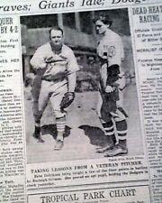 BABE DIDRIKSON ZAHARIAS Major League Baseball Publicity Stunt 1934 Old Newspaper