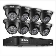 ZOSI 8CH 720P 1080N DVR Outdoor IR LEDs Dome CCTV Security Camera System Kit