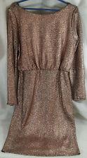 Rose Gold Metallic F&F Party Evening Dress UK 14 EU 42 US 10