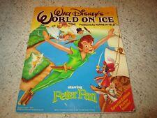 1990 Walt Disney World On Ice Peter Pan Souvenir Progarm!!!