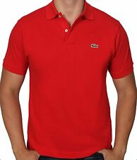 Men's Lacoste Classic Pique Polo Short Sleeved Shirt Red L121251 Sz M