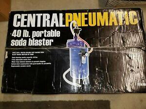 40 Lb Portable Soda Blaster  New Never Used Includes Dead Man Valve Open Box