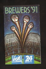 Milwaukee Brewers--1991 Pocket Schedule--WCGV/True Value