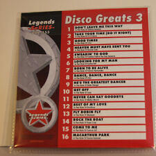 LEGENDS SeRIES KARAOKE CD+G DISCO GREATS#3 VOL-153  NEW IN VINYL with PRINT