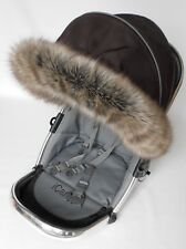 Pram , pushchair  Hood fur trim fit Stokke, Icandy, Quinny, Mamas&Papas, Bugaboo