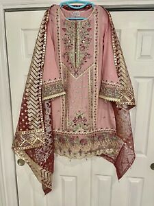 ANAYA BY KIRAN CHAUDHRY ORGANZA LAWN EMBROIDERED SUIT EID 🦋