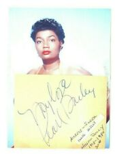 Clipped Autographed w Photo Singer Actress Pearl Bailey