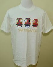 San Francisco t-shirt white large NEW tag NWT raised lettering $24 originally