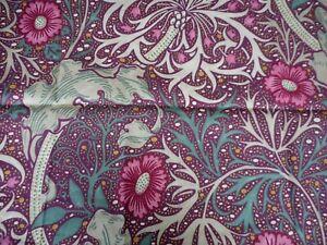 "WILLIAM MORRIS ""MORRIS SEAWEED"" 0.75 metres Aubergine Bayleaf Curtain Fabric"