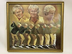 Jack Nicklaus Golfing Painting, Sports Memorabilia - S5