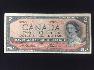 Bank of Canada $2 Devil's Face Banknote