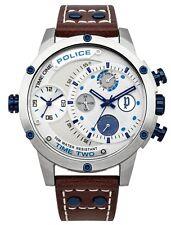Police Men's Adder Brown Camel Leather Watch 14536JS/04