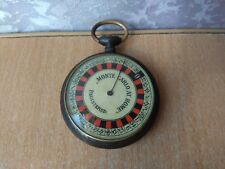 RARE OLD Antique Swiss Roulette Game Monte Carlo at home in style pocket watch