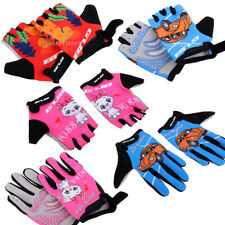 Kids Roller-skating Cycling Gloves Boys and Girls Riding Bike Glove Blue