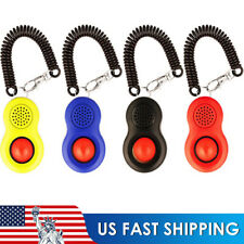 4Pcs Dog Clicker Pet Training Clicker Trainer Teaching Tool For Dogs Puppy Us