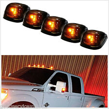 5 Pcs Amber 5-LED Black Smoke Lens Autos SUV Off-Road 4X4 Cab Roof Marker Lights