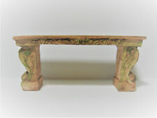 Dollhouse Miniature Fancy Garden Bench Aged 1:12 Scale or Fairy Garden