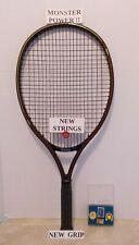RARE Graphite Weed SOS 135 Tennis Racquet 4 1/2-NEW STRINGS/GRIP & VGC & BONUS