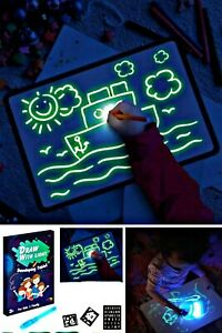 Magic Fluorescent LED Luminous Painting Board Drawing Tablet For Kids Education