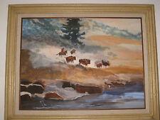 "Original Signed Dorcas Birchim Last Bison Drive Water went to LADWP 18""24"" 1980"