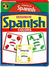 LESSONS IN SPANISH Educational Picture Book and Audio CD of COLORS Ages 5+