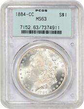 1884-CC $1 PCGS MS63 (OGH) Old Green Label Holder - Morgan Silver Dollar