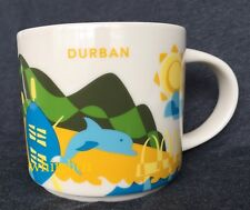 Starbucks Durban Mug YAH South Africa Dolphin Ship Rugby Zulu You Are Here Cup