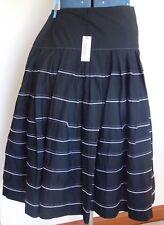 NWT $140 Womens 100% COTTON 14 Skirt 16 Black Vintage Rockabilly Boho Ladies NEW