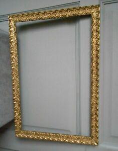 Vintage french gilded wood & plaster ornate LARGE painting FRAME