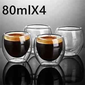 New Heat-resistant Double Wall Glass Cup Beer Espresso Coffee Cup