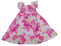 BNWT  Girls pretty cotton pink summer dress clothes  2-3 Years  3-4 Years