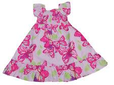 NUEVO CON ETIQUETA Niñas Bonita Algodón Rosa Vestido de verano ropa 2-3 AÑOS