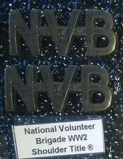 NVB National Volunteer Brigade WW2 - Shoulder Title Set ® - Type 2 - UDF