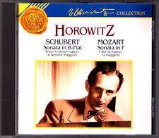Vladimir Horowitz: SCHUBERT piano sonata d.960 Mozart k332 Czerny Mendelssohn CD