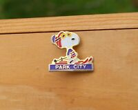 Park City Ski Pin Snoopy Charlie Brown Peanuts Metal & Enamel Lapel Pinback